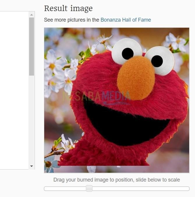 Hasil gambar yang telah diberi background