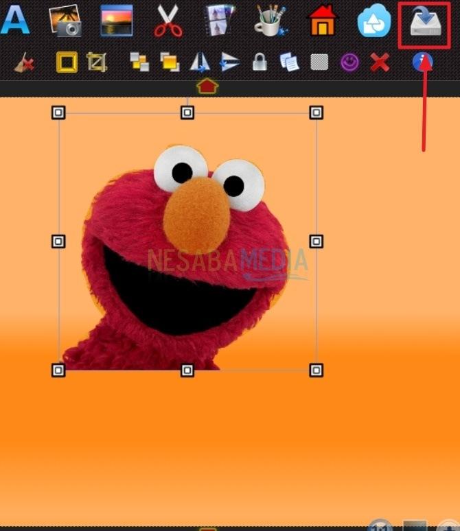 klik icon save