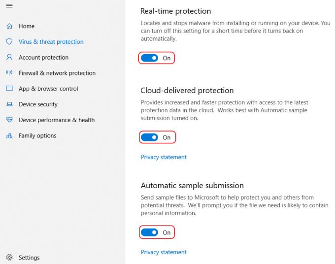 Menonaktifkan Windows Defender di Windows 10 - Step 6