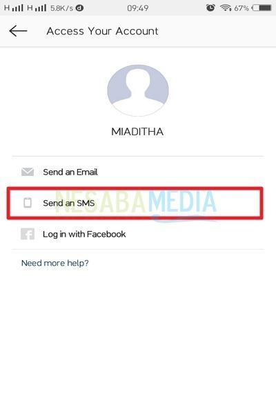 Select Send SMS
