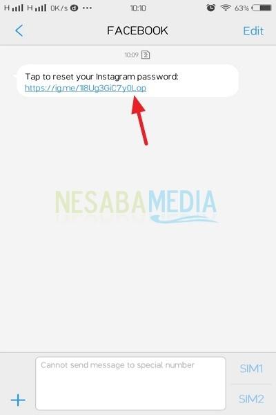 Open your Message menu