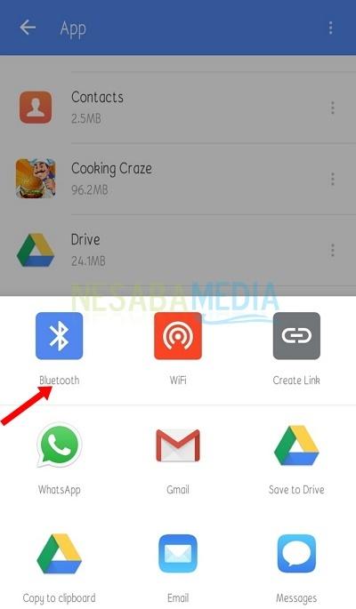 Cara Mengirim Aplikasi Lewat Bluetooth Di Android Gambar
