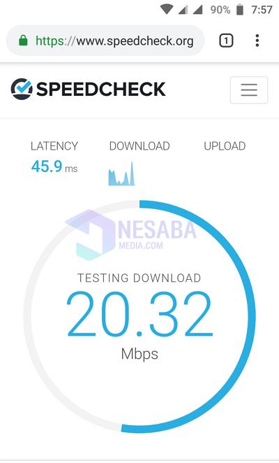 cek speed internet dengan Speedcheck.org 2