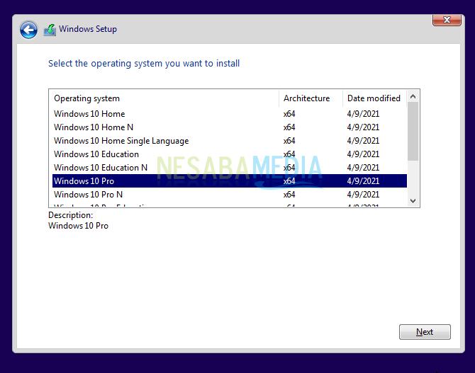 install windows 10 b