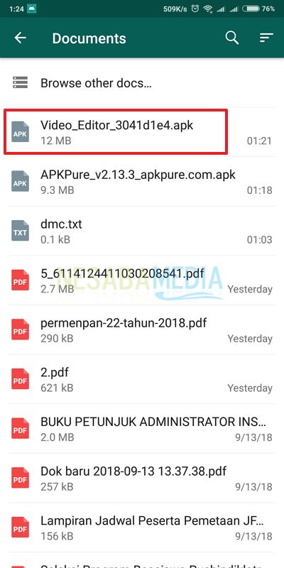 cara mengirim APK lewat whatsapp