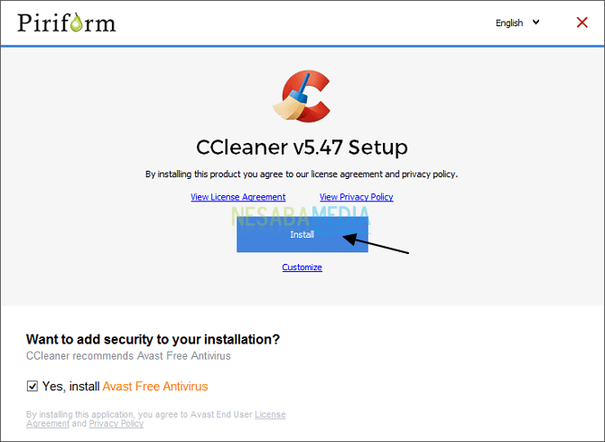 Instal CCleaner