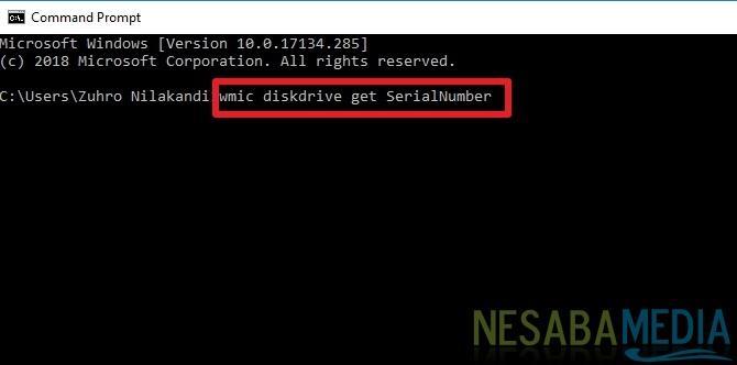 cara menemukan serial number pada hardisk