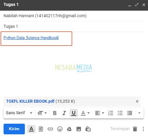 Cara Mengirim Tugas Melalui Email