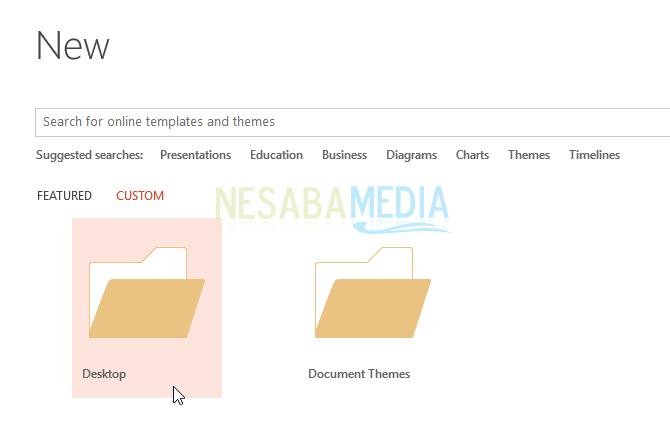cara menambah template powerpoint