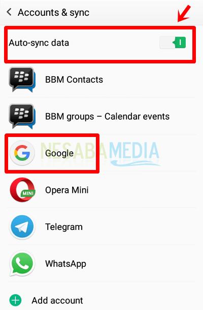 cara sinkronisasi gmail kontak di HP android