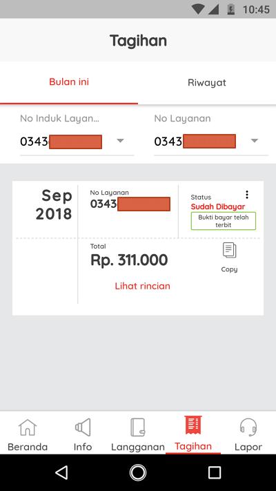 cek tagihan via app 2