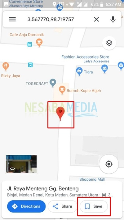 find location and hold click