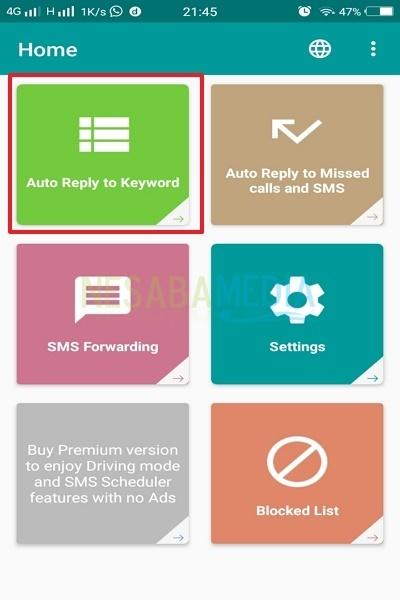 cara membalas SMS secara otomatis di HP Android