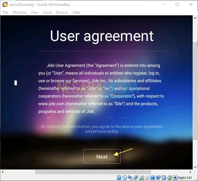 cara menginstall Remix OS di VirtualBox