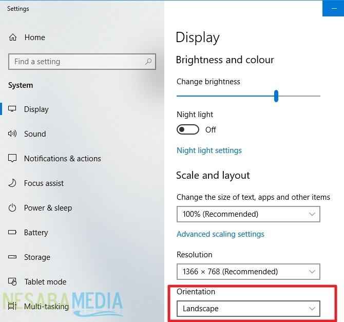 cara memutar tampilan layar pada Windows untuk pemula
