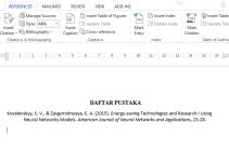 Cara Menulis Daftar Pustaka dari Jurnal pada Microsoft Word