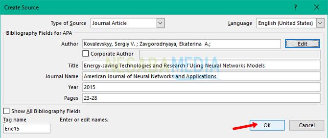 Information of journal - cara menulis Daftar Pustaka dari Jurnal dengan mudah