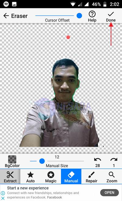 Menggunakan Background Eraser 8