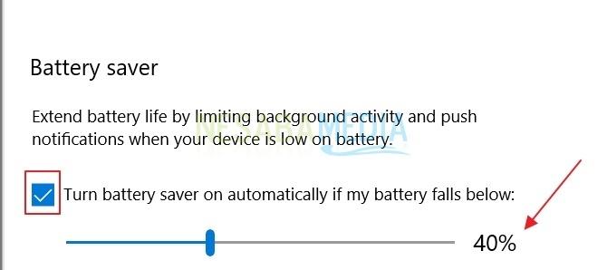 centang battery saver