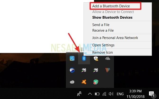 cara menghubungkan android ke PC windows 10 via bluetooth