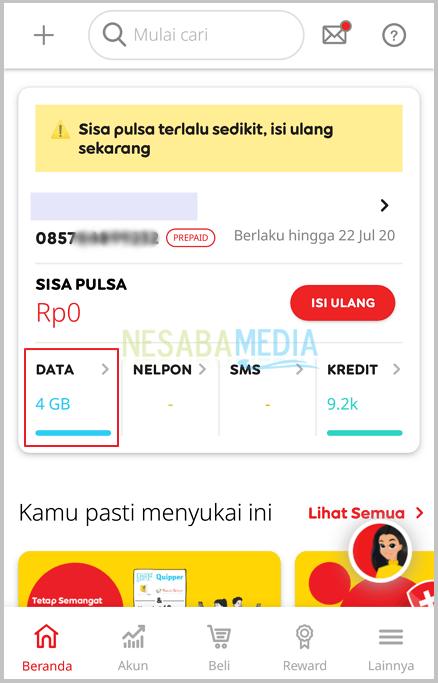 Cara Cek Kuota Indosat Melalui myIM3 5