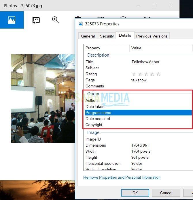 Cara Menambahkan Metadata pada Gambar