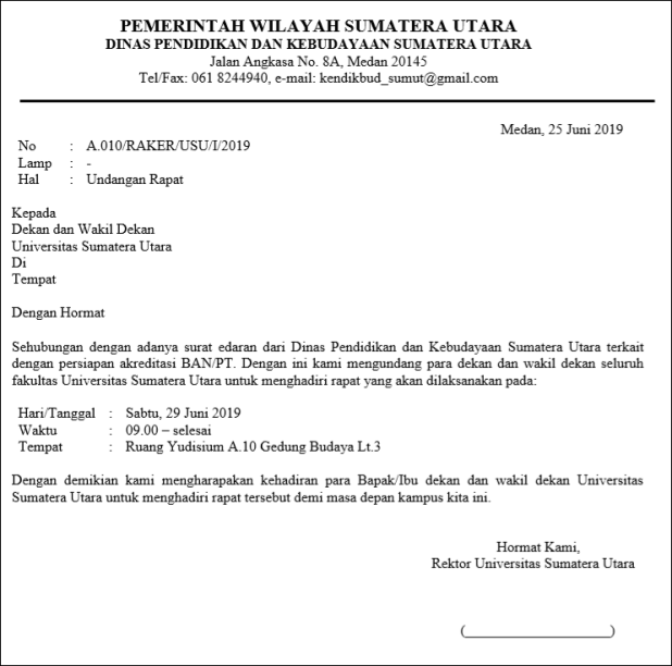 Examples of Official Invitation Letter