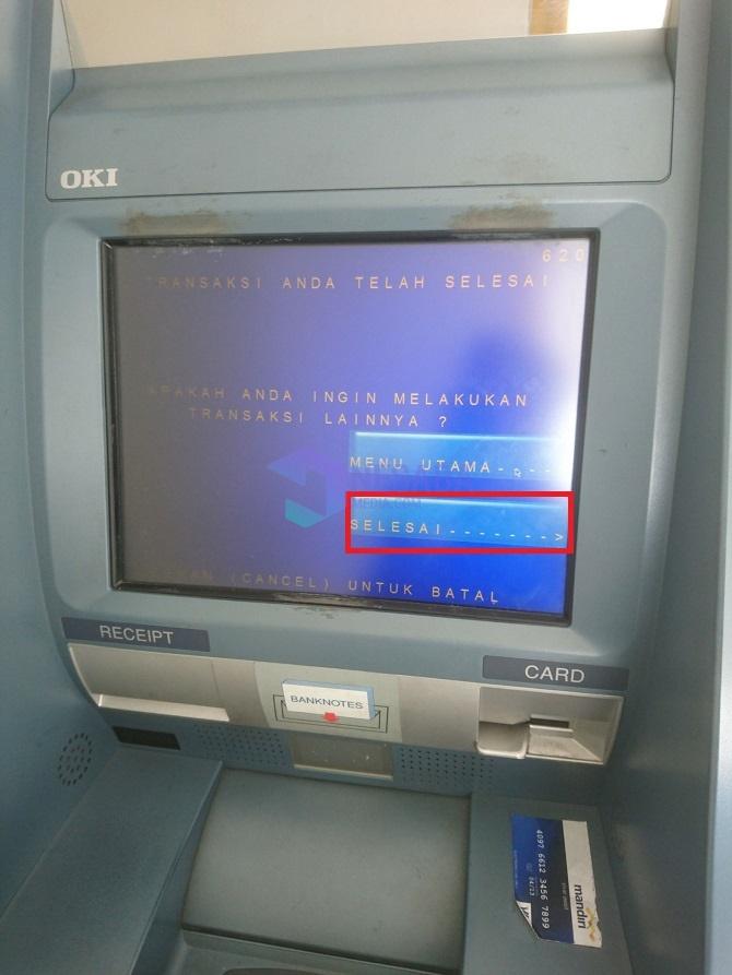 Tutorial Cara Setor Tunai di ATM Mandiri