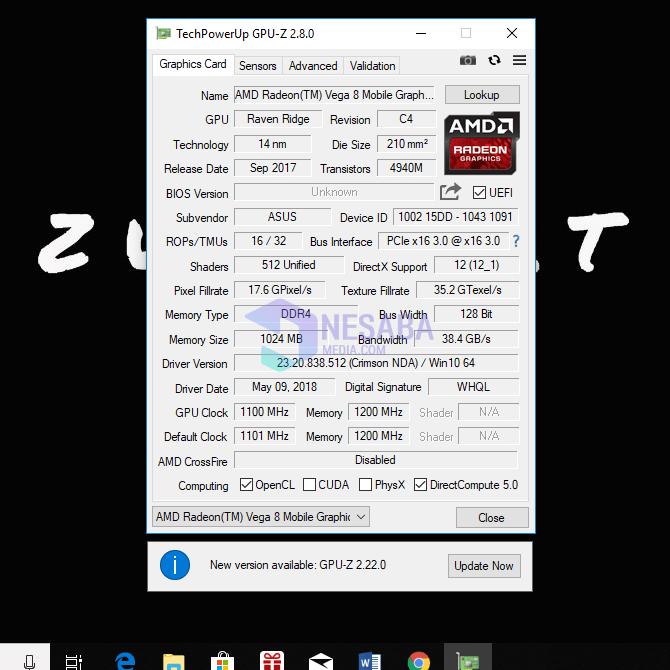 cara cek VGA laptop dengan GPU-Z
