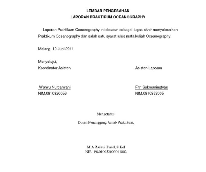 10 Contoh Lembar Pengesahan Proposal Laporan Dll File Doc