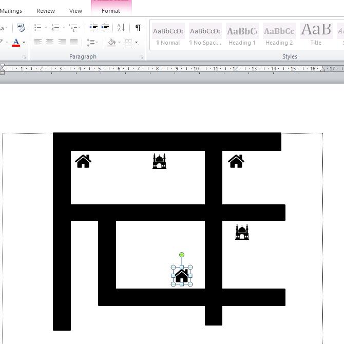 cara membuat denah lokasi di Microsoft Word