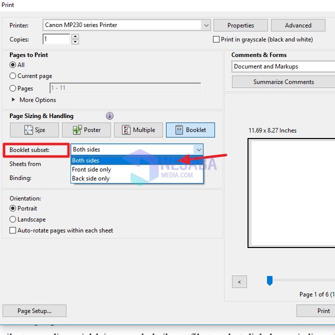 begini cara ngeprint PDF bolak balik