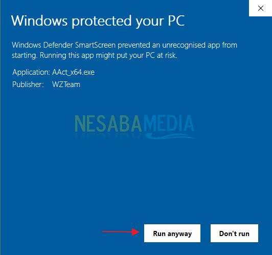 Aktivasi Windows 10 step 5