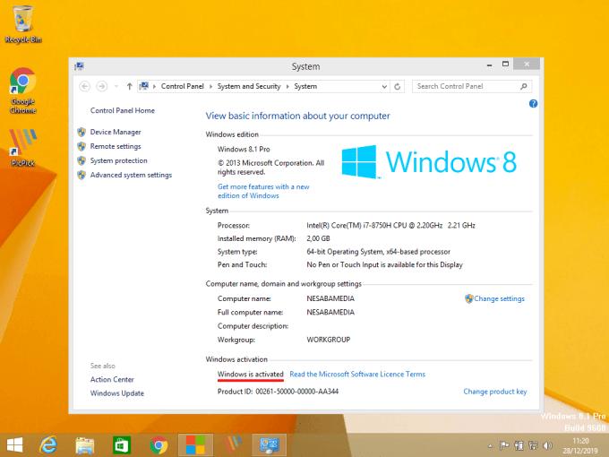 Aktivasi Windows 8 Step 5