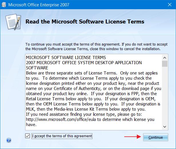 Instalasi Ms. Office 2007 - Langkah 3
