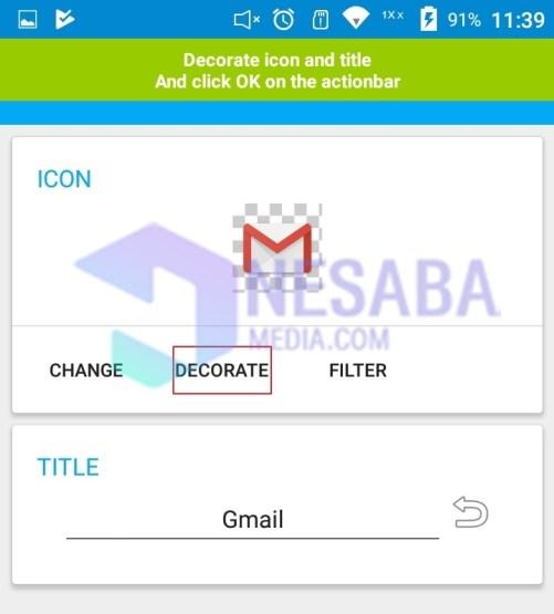 Decorate gmail