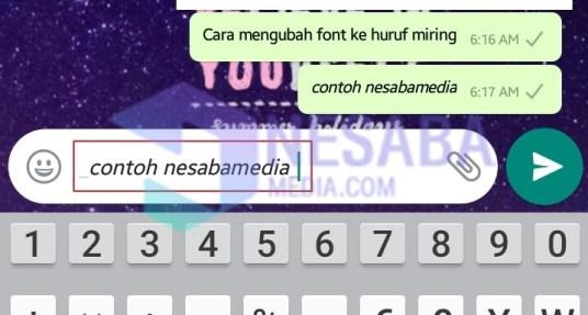Font Cetak Miring
