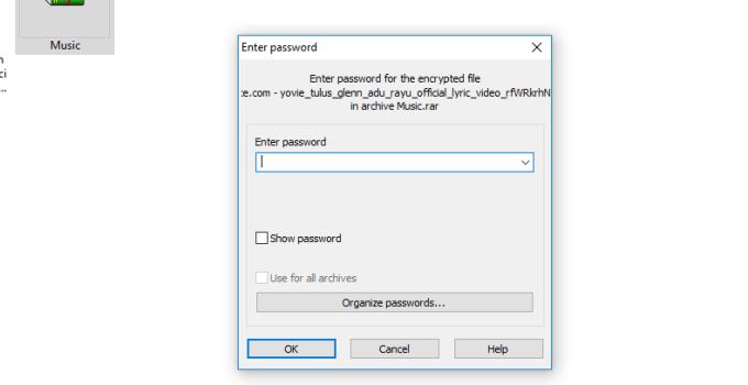 cara membuka Zip yang dipassword