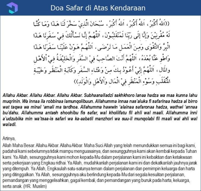Doa Naik Kendaraan Ketika Safar