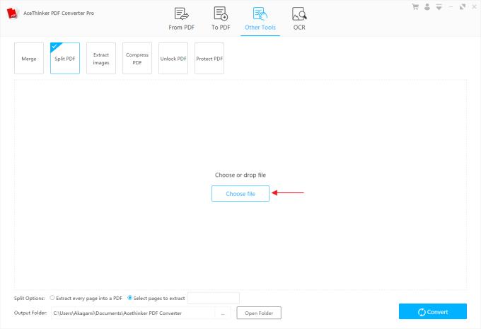 Acethinker PDF Converter Pro untuk Memisahkan File PDF