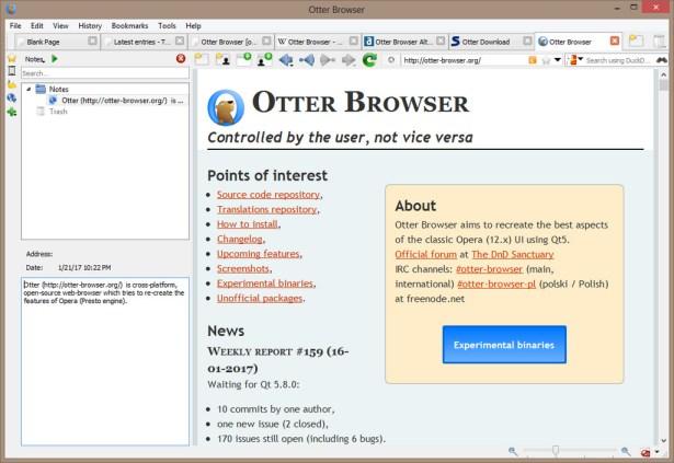 Download Otter Browser Terbaru