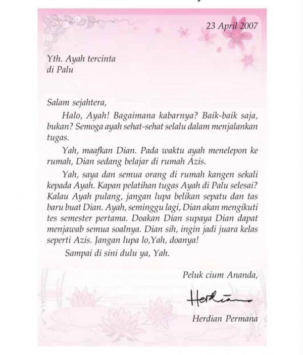 Surat Pribadi untuk Ayah
