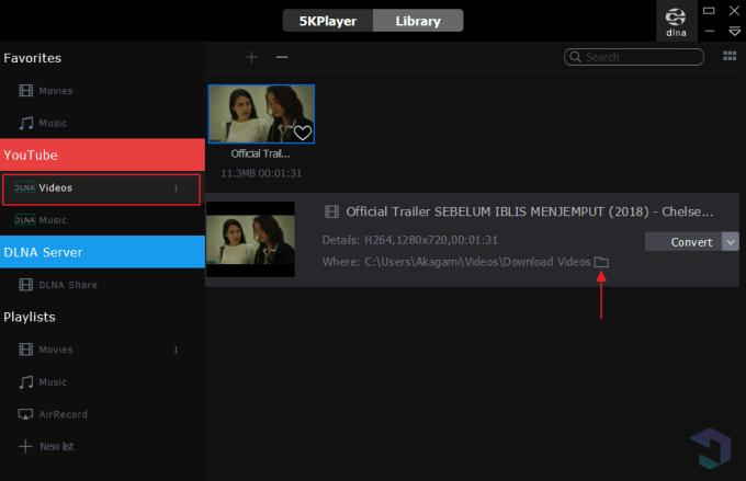 download video dengan 5KPlayer 8
