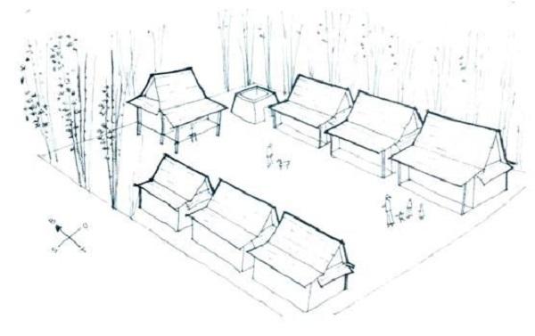 Komponen-komponen Dalam Rumah Adat Tanean Lanjhang