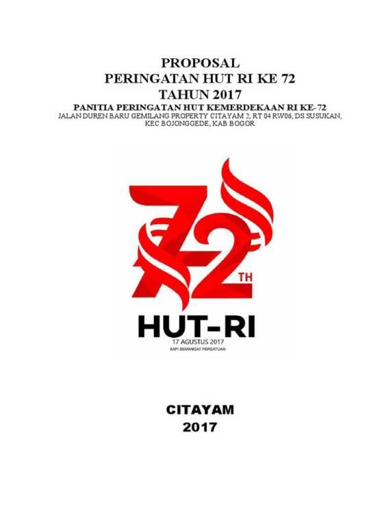 Contoh cover Proposal 17 agustus