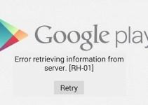 Cara Mengatasi Error RH-01 di Google Playstore