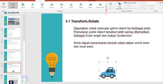 Gambar Bergerak di Powerpoint - Nesabamedia 2