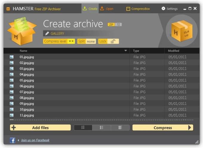 Hamster Free Zip Archiver - Aplikasi Kompres File untuk PC / Laptop