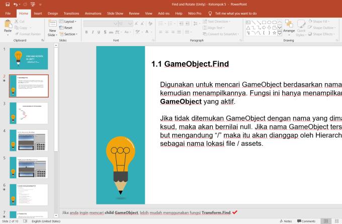 Membuat Catatan Tersembunyi di Powerpoint - Nesabamedia 2