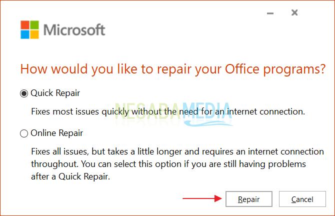 Mengatasi Microsoft Office Word Tidak Bisa Dibuka 3